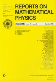ksiazka tytuł: Reports on Mathematical Physics 68/2 Kraj autor: