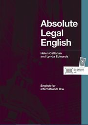 Absolute Legal English B2-C1, Helen Callanan, Lynda Edwards
